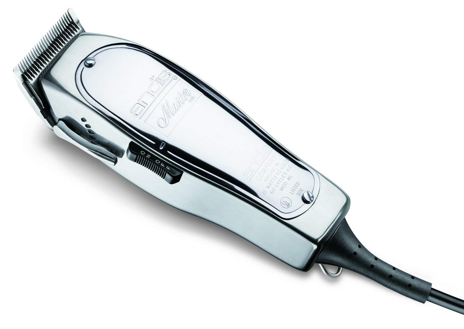 Andis Master 15-Watt Adjustable Blade Hair Clipper, Silver (01557)
