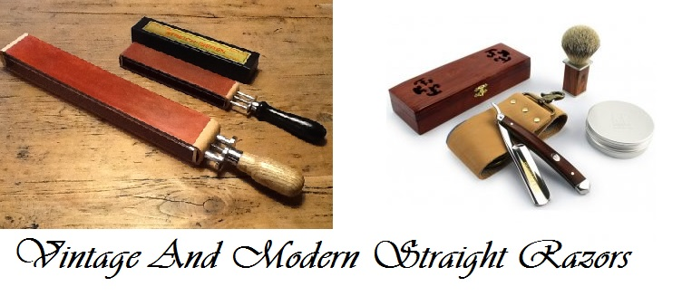 Vintage And Modern Straight Razors