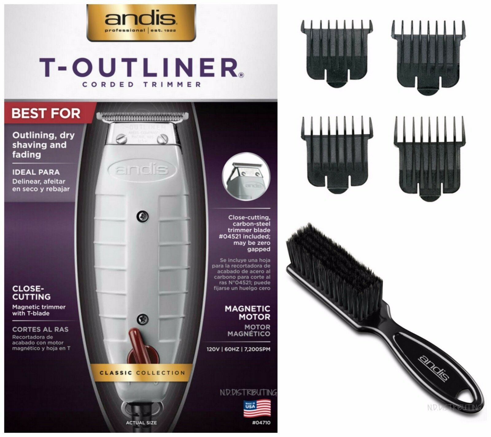 Andis 04710 Professional T-Outliner Trimmer